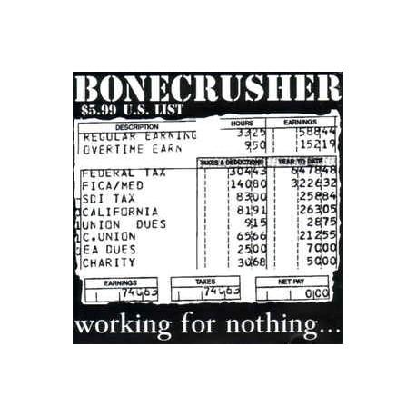 """BONECRUSHER """"irking for Nothing"""" LP"""