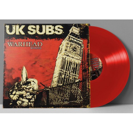 """UK SUBS """"Warhead Revisited"""" LP Vinyle Rouge"""