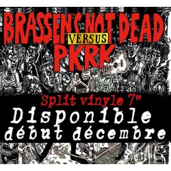 BRASSENS NOT DEAD / PKRK - Split 45t Vinyle
